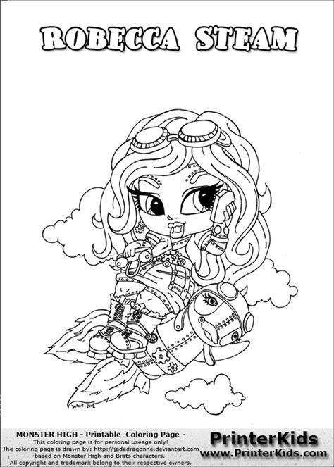 chibi monster high coloring pages download and print for free monster highrobeca free coloring pages