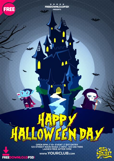 halloween day flyer freedownloadpsdcom