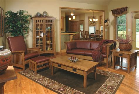 Craftsman Living Room Furniture | mission style white oak living room furniture craftsman