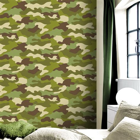 camo wallpaper for bedroom camouflage wallpaper kids bedroom 10 metres long new free