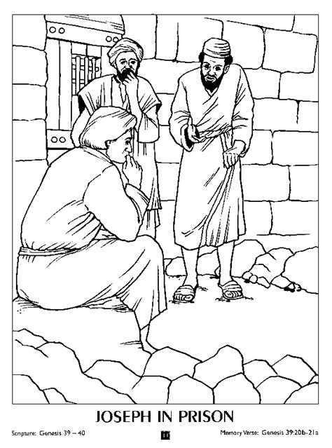 Joseph In Prison Coloring Pages free coloring pages of joseph in