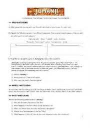 jumanji movie lesson plans english worksheets movies worksheets page 504