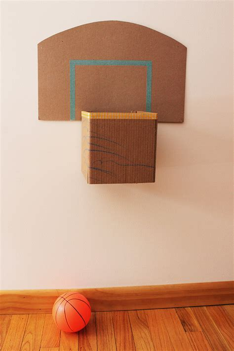 How To Make Paper Basketball Hoop - how to make a cardboard basketball hoop caitlin betsy bell