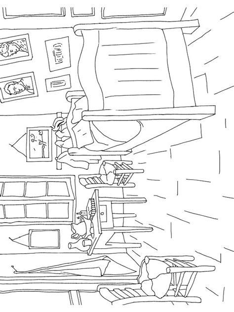 van gogh bedroom coloring page van gogh coloring pages coloring pages pinterest