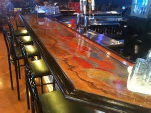 bar top epoxy liquid glass finish
