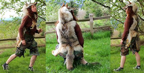 Lu Hid Leopard hide coyote headdress by lupagreenwolf on deviantart