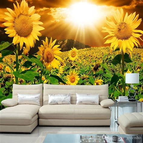 beautiful wallpaper design for home decor beautiful sunflower photo wallpaper natural beauty wall