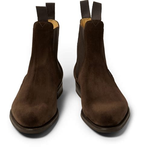 edward green boots edward green newmarket suede chelsea boots in brown for