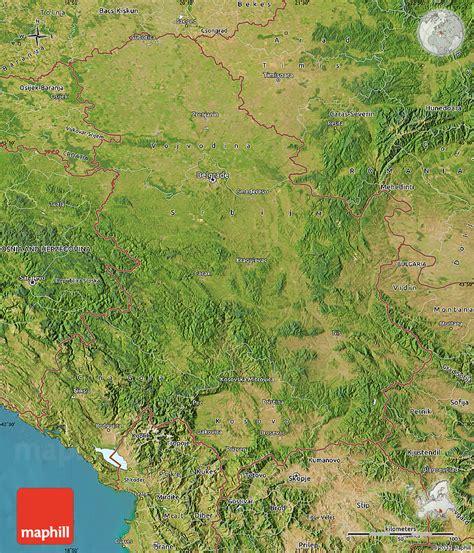 maps kosovo satellite serbien kapital karte