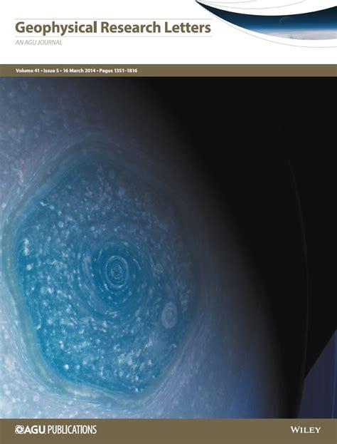 Geophysics Research Letter Centro De Astrobiolog 237 A