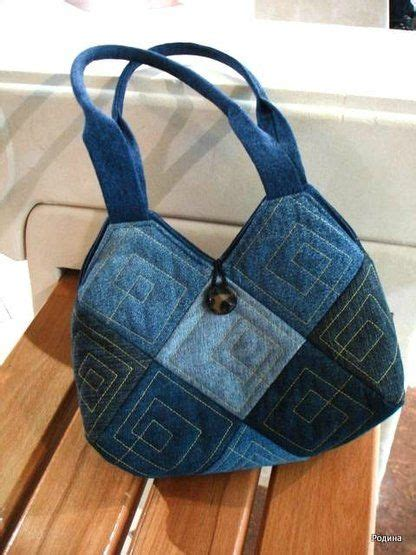 Denim Patchwork Bag Patterns Free - best 25 denim jean purses ideas on jean