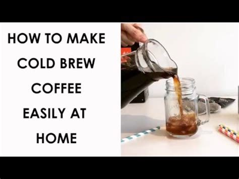 how to make cold brew at home using ese coffee pods