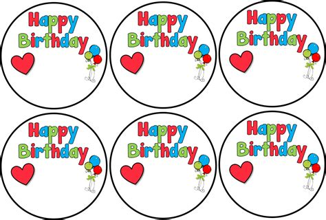 birthday labels template free classroom freebies happy birthday labels