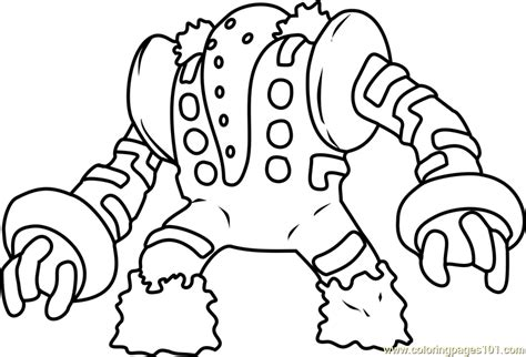 pokemon coloring pages chesnaught regigigas pokemon coloring page free pok 233 mon coloring