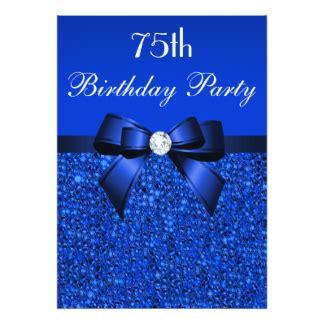 75th birthday cards invitations zazzle co uk