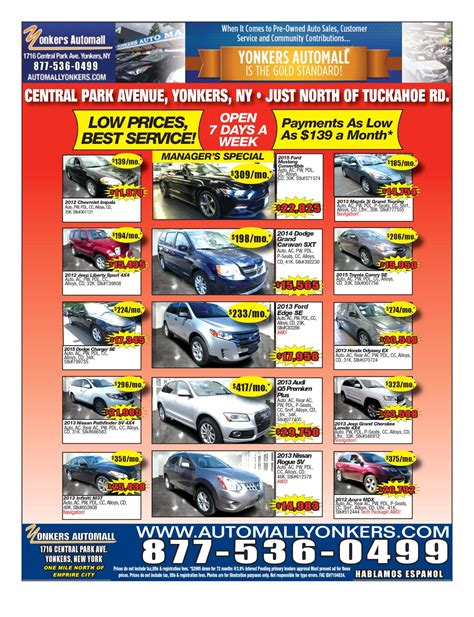 used car ads yonkers automall newspaper ad bronx used cars