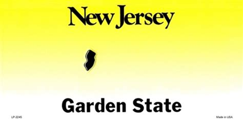 Personalized Wall Sticker new jersey blank license plate