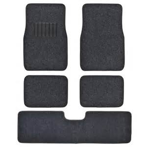 Plush Auto Floor Mats 5pc Set Plush Carpet Passenger Auto Floor Mats Front