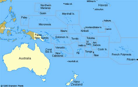 where is oceania on the world map political resources on the net map of oceania