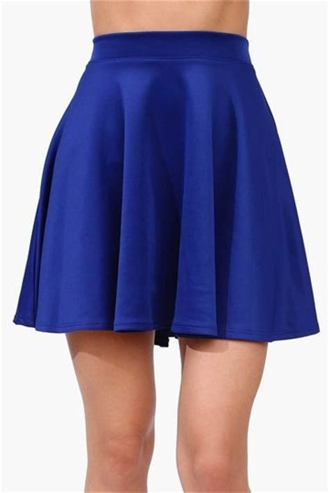 blue skirt velvet skater skirt royal blue fashion