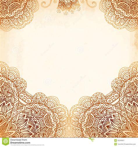 Desain Poster Pamflet Baliho Editing Foto D fond fleuri de vecteur de vintage dans le style de mehndi