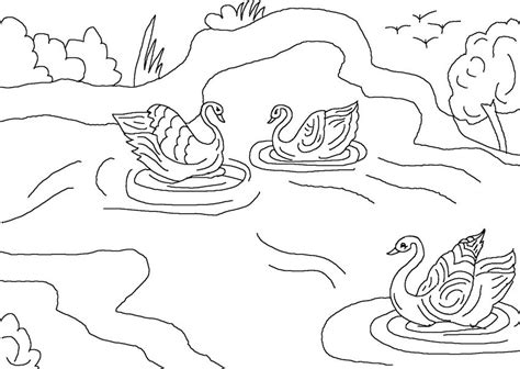 cartoon ugly duckling page coloring pages