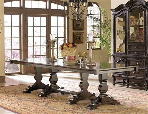 Rustic Formal Dining Table Rustic Burnished Oak Finish Formal Dining Table W Options