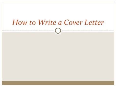 how to right a cover letter for a how to write a cover letter