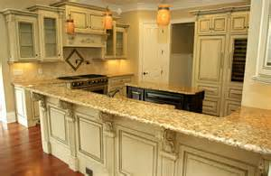 Antique White Glazed Kitchen Cabinets Antique Glazed Cabinetry Traditional Kitchen Other