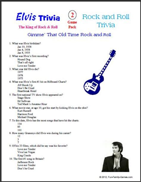 trivia questions printable 7 best images of free printable trivia for seniors elvis