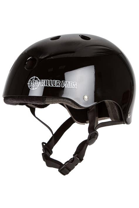Helm Monton Black Glossy Original 187 killer pads pro skate helm gloss black kaufen bei skatedeluxe