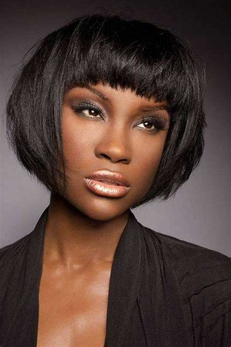blunt cuts on african american women 15 short bob haircuts for black women short hairstyles