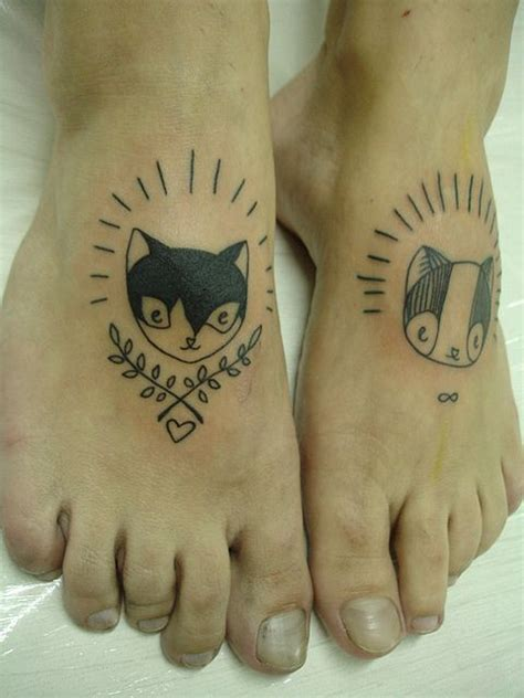 cartoon cat tattoo cat foot pieces awesome idea if you had or