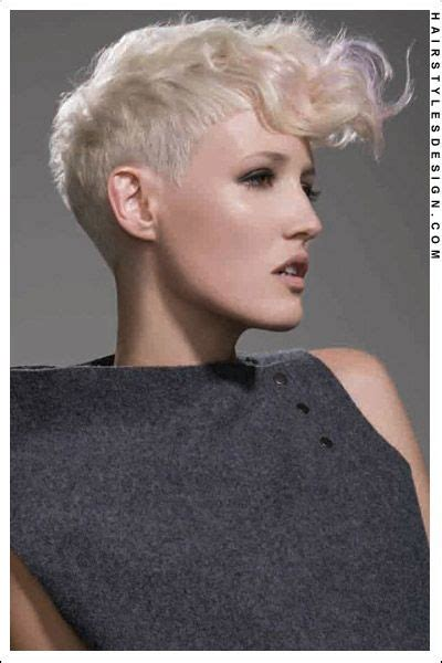 pin back a long pixie fringe short hairstyles closely cropped pixie with long curly