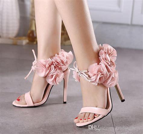 high heels with flowers pink flower heels qu heel