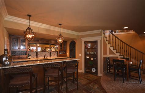 basement bar traditional basement kansas city by