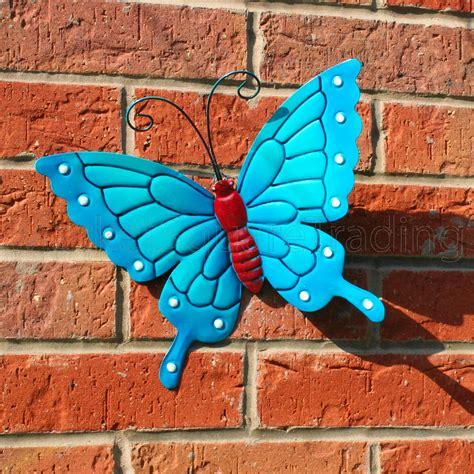 garden decoration metal butterflies garden decoration multi coloured metal outdoor