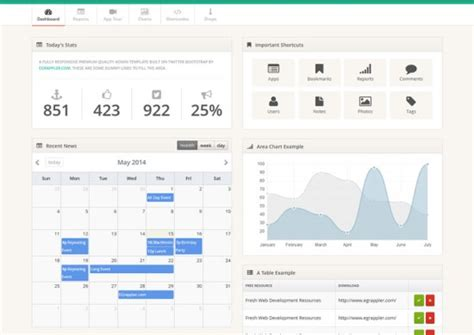 20 Free Bootstrap Admin Templates Bootstrap Admin Panel Template Free