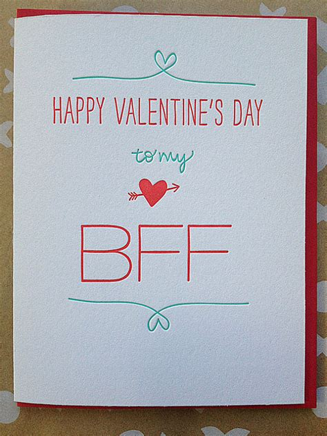 valentines day cards for friends best friend card letterpress for by