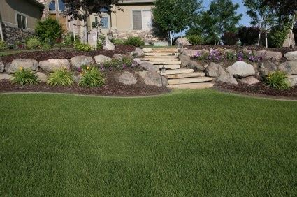 sloping backyard landscaping ideas backyard landscape pictures share and find