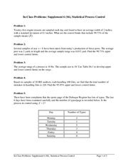supplement 6 statistical process statistical process problems in class problems