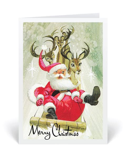 retro cards retro vintage santa 1950 s card 36508 harrison