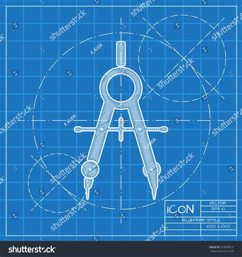 blueprint vector stock photo image 9031930 vector blueprint compasses icon engineer architect stock