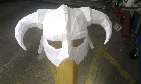 Iron Helmet Papercraft - skyrim iron helm my pepakura by