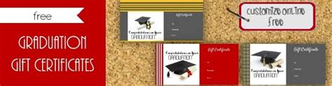 graduation gift card template graduation gift certificate template free customizable