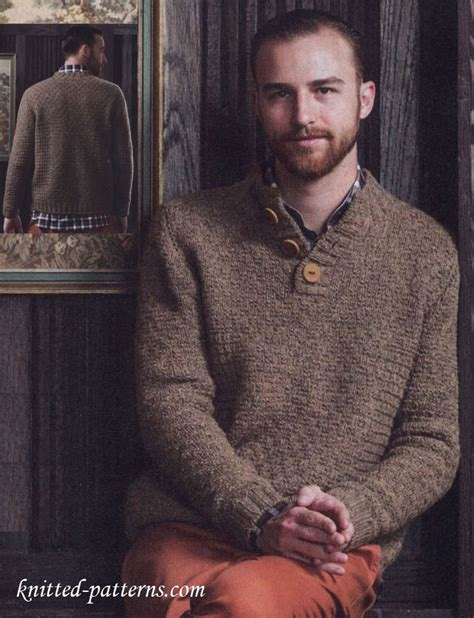 mens knitting patterns free s knitting pullover pattern free