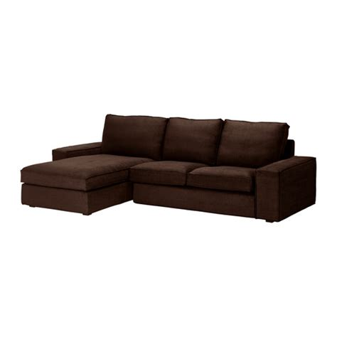 ikea sofa lounge kivik loveseat and chaise lounge tullinge dark brown ikea