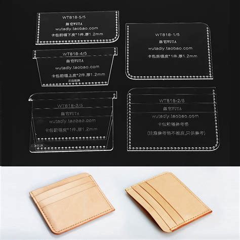 acrylic sts for card handmade clear acrylic leathercraft pattern wallet card
