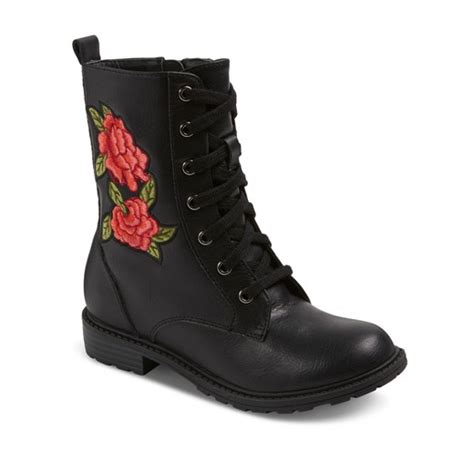 target black boots bea embroidered laceup fashion boots class