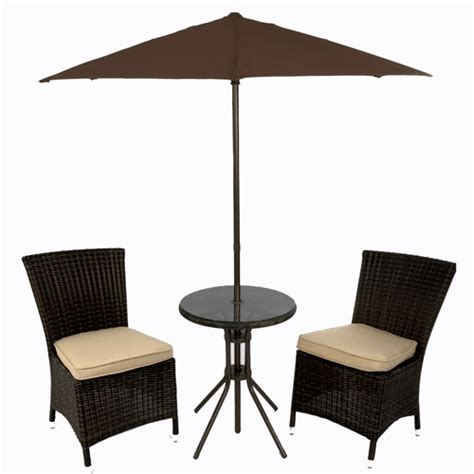 table parasol vienna bistro set 60cm table 1 8m parasol 2 seats rattan garden furniture ebay